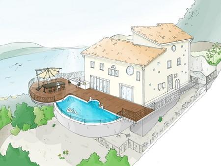 プール付き別荘