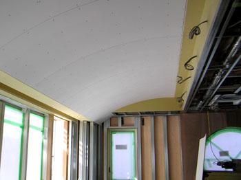 曲線の折上げ天井