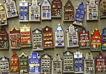 オランダの住宅の模型
