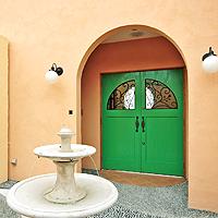 玄関ドア造作扉:みどり色
