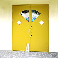 玄関ドア造作扉:ステンドグラス