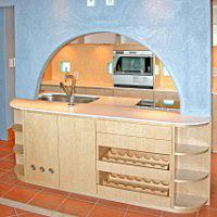 オープンキッチンカウンター下収納