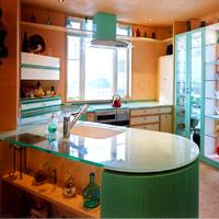 ガラス天板造作キッチン