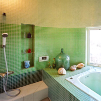 ペパーミントグリーンのモザイクタイル