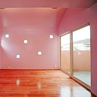 ピンク:塗り壁