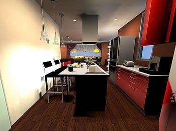 キッチンのイメージ3D