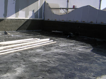 ルーフテラスの防水施工