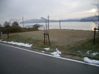 1月着工前の雪たまり