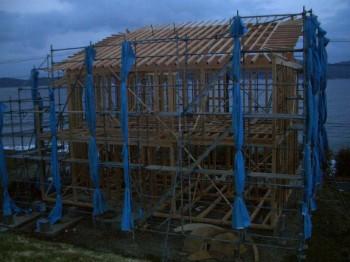 木工事夕刻の状況