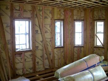1階外壁断熱材状況