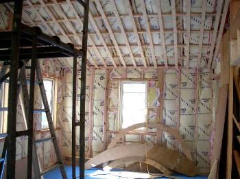 2階外壁と屋根断熱材状況