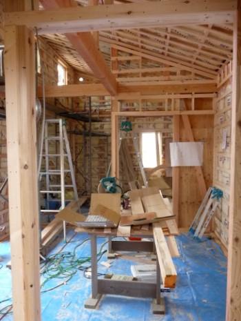 2階LDの勾配天井