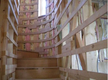 階段の手すり取付用下地