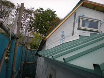 屋根張りました