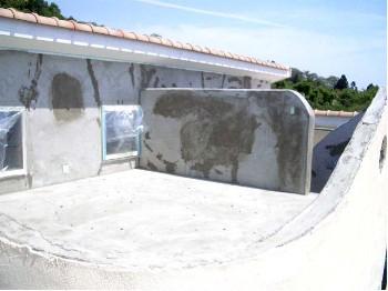 屋上モルタル施工