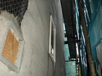 外部モルタル塗り