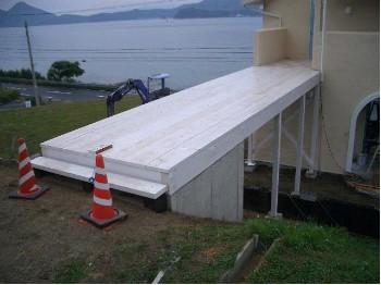 階段タイル施工