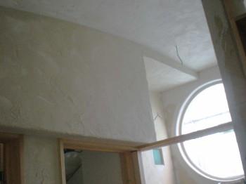 内部珪藻土塗り壁